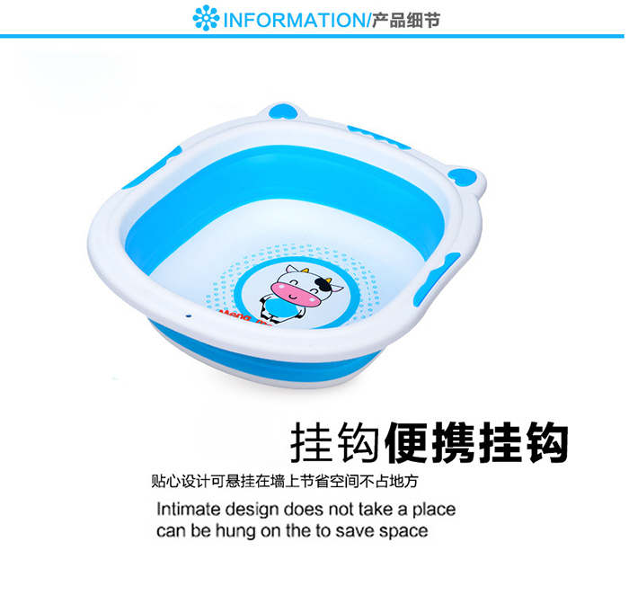 Baby Bathtub Foldable Collapsible Pp Silicone Saving Space Travel Washtub