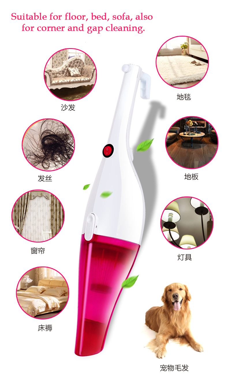 2in1 Tingbra Strong Portable Suction 400W Handheld Home Room Car Vacuum Cleaner
