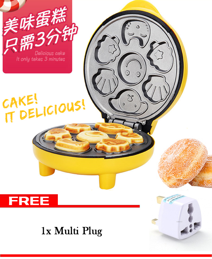 Cartoon Mini Cake Baker Double-sided Heating Machine