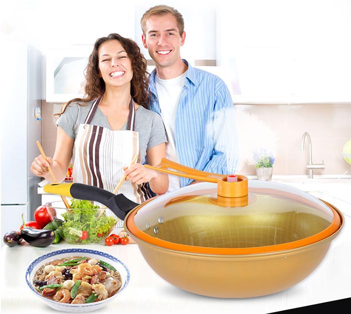 Gold Magic Vacuum Energy Saving Cooker Grill Cooker Cookware Pot