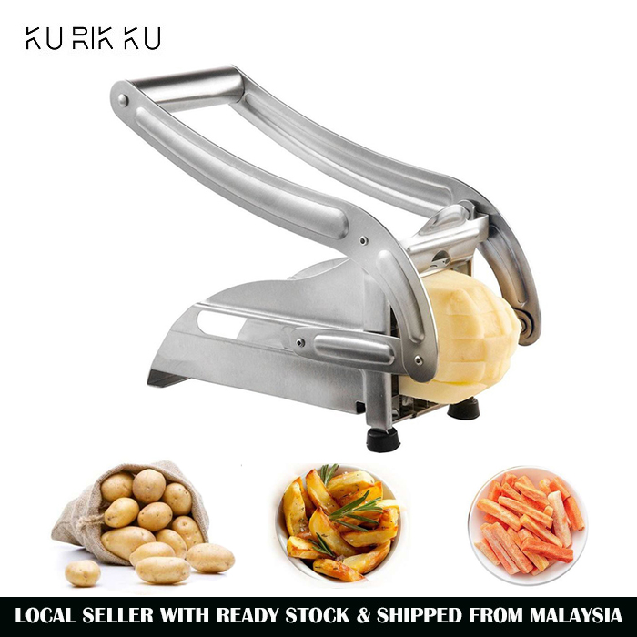 Potato Chipper French Fries Slicer Chip Cutter Stainless Steel Home Kitchen Tool