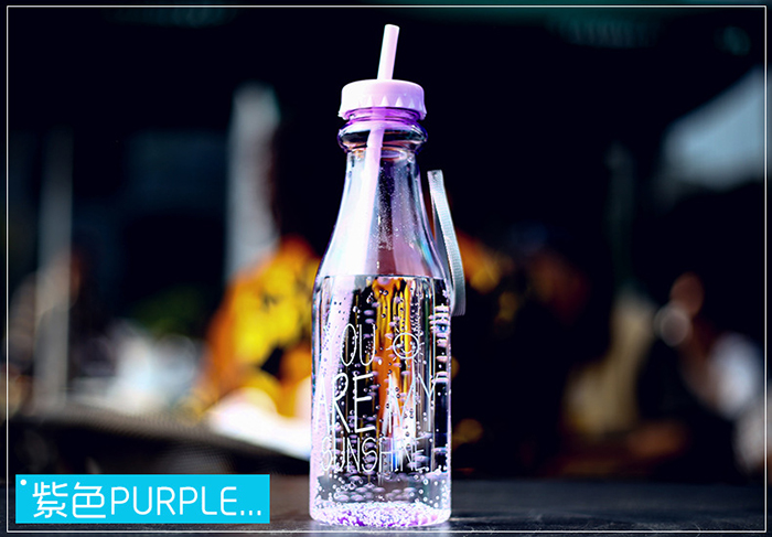 650ml Fashion BPA Free Water Bottle Plastic Portable Sports Cup with Straw