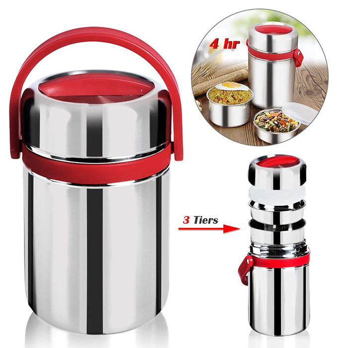 Stainless Steel 304 Double Layer Insulated Food Vacuum Lunch Box Food Jar Ultra Long 5 Hours