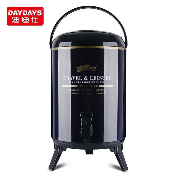 DAYDAYS Metal Printing Thermo Water Cooler Jug With Double Faucets Water Dispenser