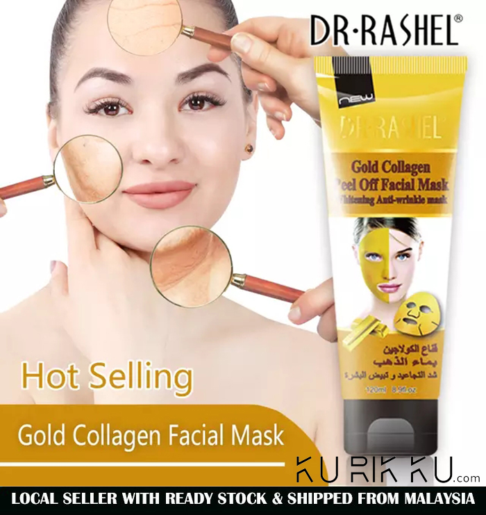 Dr-Rashel Gold Collagen Peel Off Facial Mask Whitening Anti-wrinkle Mask 120ML