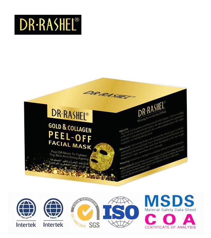 Dr-Rashel Collagen Facial Peel Off Gold Mask Masker Whitening Anti Wrinkle Face Mud Mask