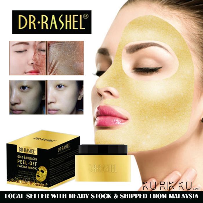 Dr-Rashel Collagen Facial Peel Off Gold Mask Masker Whitening Anti Wrinkle Face Mud Mask 150gm