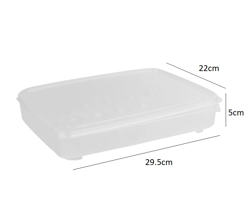 Plastic Refrigerator Transparent 24 Eggs Storage Food Storage Container Box Case