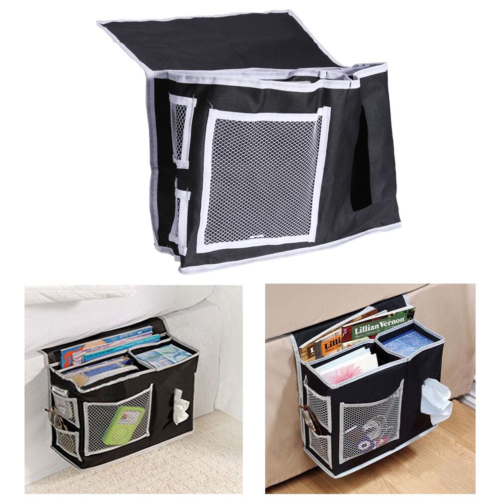 Household Hanging Sofa Storage Bag Sundries Holder Case Organizer Remote Control Magazines