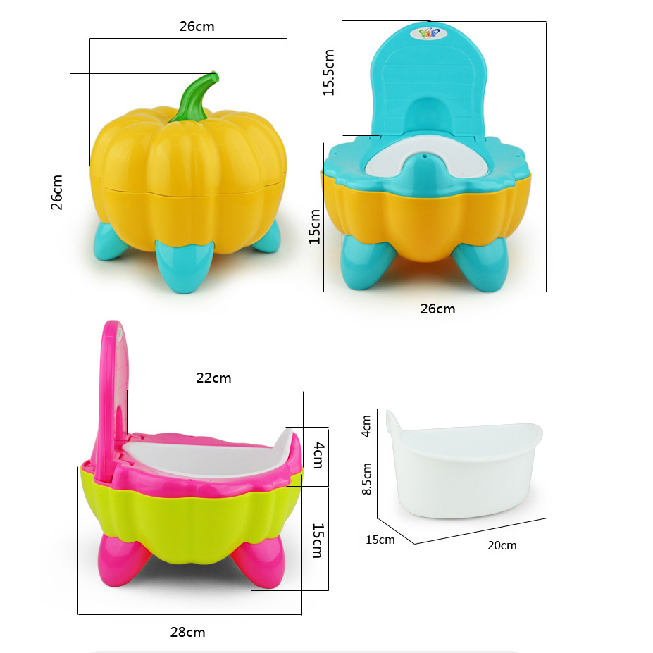 Pumpkin Baby Potty Urinary Baby Toilet Bowl Trainer Kid Chair Seat Bench