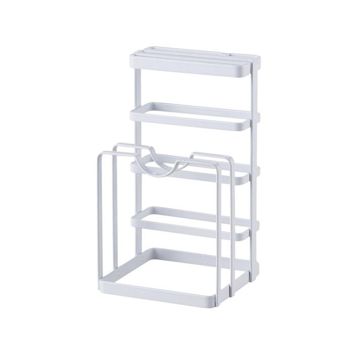 Iron Metal Block Knife Cutting Board Tower Drying Stand Holder Rack Kitchen Storage Organizer