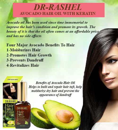 Dr-Rashel Dubai Hair Split End Treatment Repair Damege Oil Avocado With Keratin