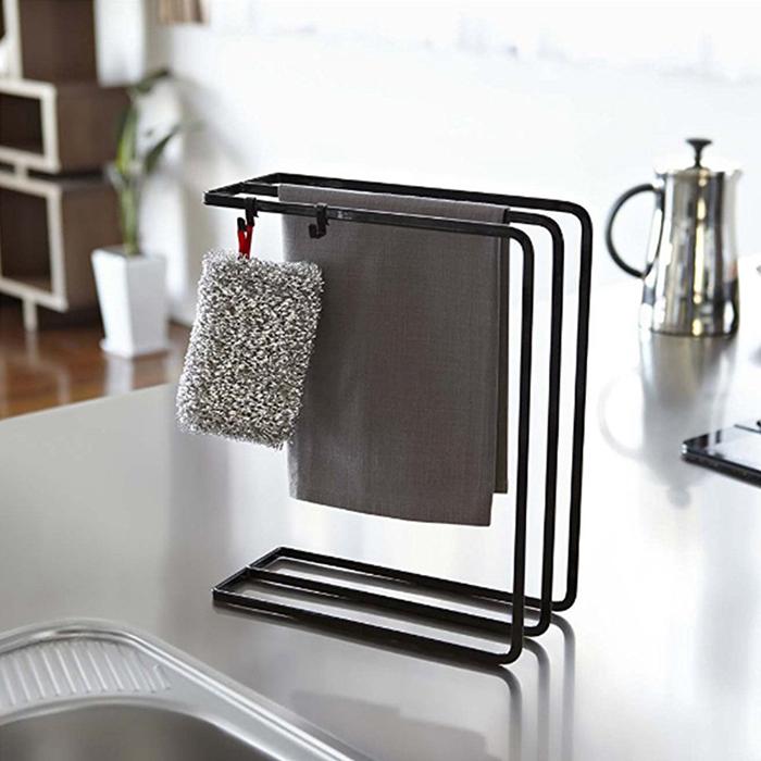 Iron Metal 3-Tier Dish Towel Holder Towel Dryer Kitchen Toilet Utensils Organizer