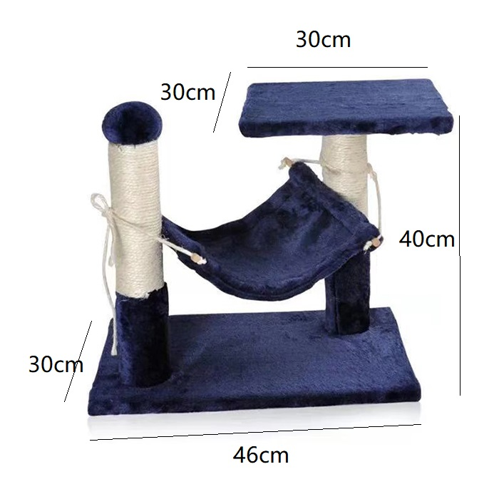 Cat Kitty Tree Play Bed Scratcher Jump Hoop Pest House Toy Station