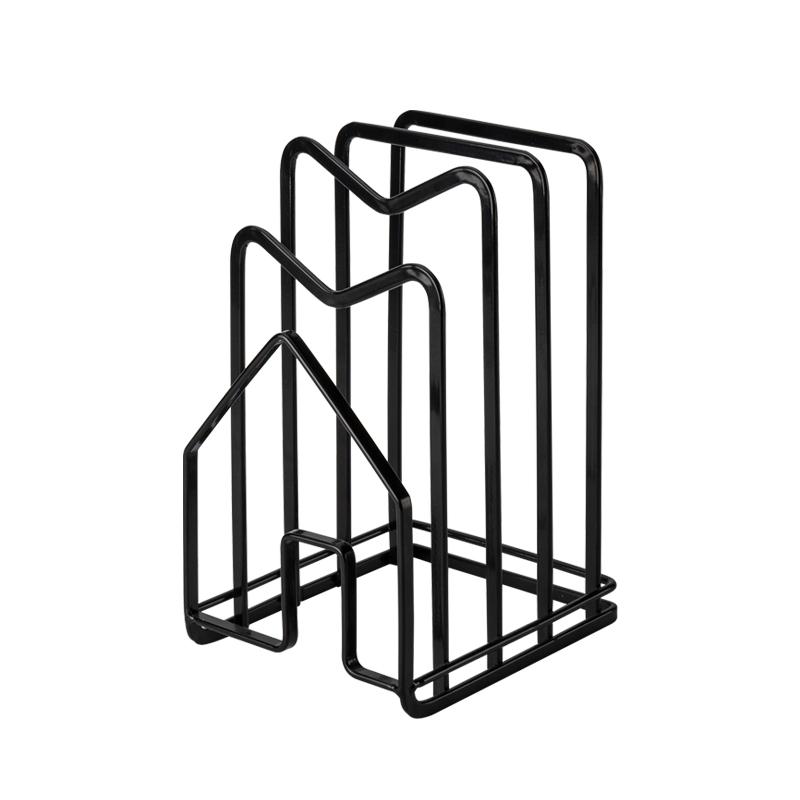 Iron Metal Block Multi Cutting Board Rack Tower Drying Stand Pot Cover Holder Book Shelf Magazine Rack