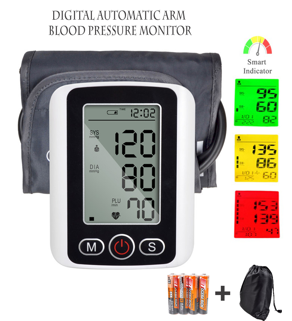 Fully Automatic LCD Digital Arm Blood Pressure Monitor