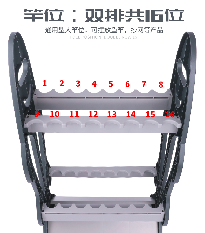 Plastic Fishing Rod Rack Support Stand Tackle Boat Marine