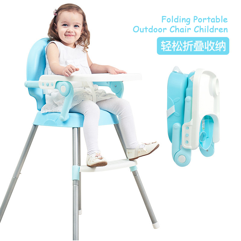 Foldable Portable Baby Multi Function Feeding Dining Adjustable Chair Table