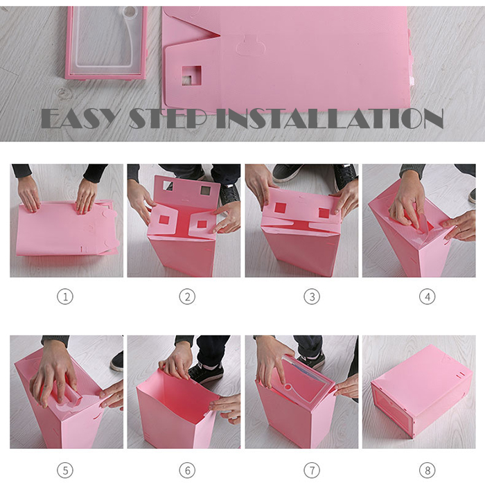 Simple & Fashion Stackable Japanese Plastic Shoes Box