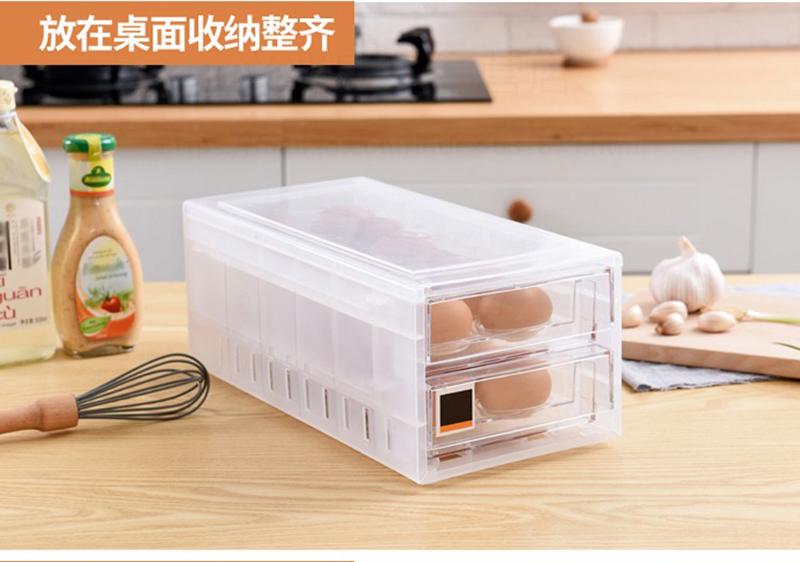24 Grid Double Layer Egg Storage Box/Drawer Kitchen Refrigerator Storage Container Box