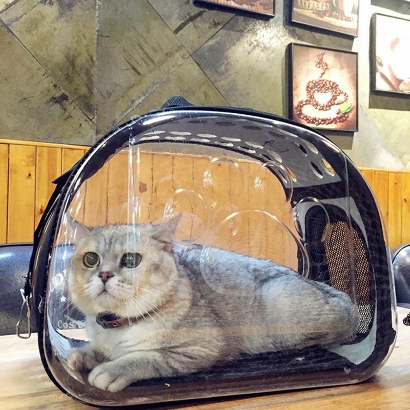 Transparent Pet Carrier Travel Bag for Small Dogs Cats Foldable Travel Handbag Zipper