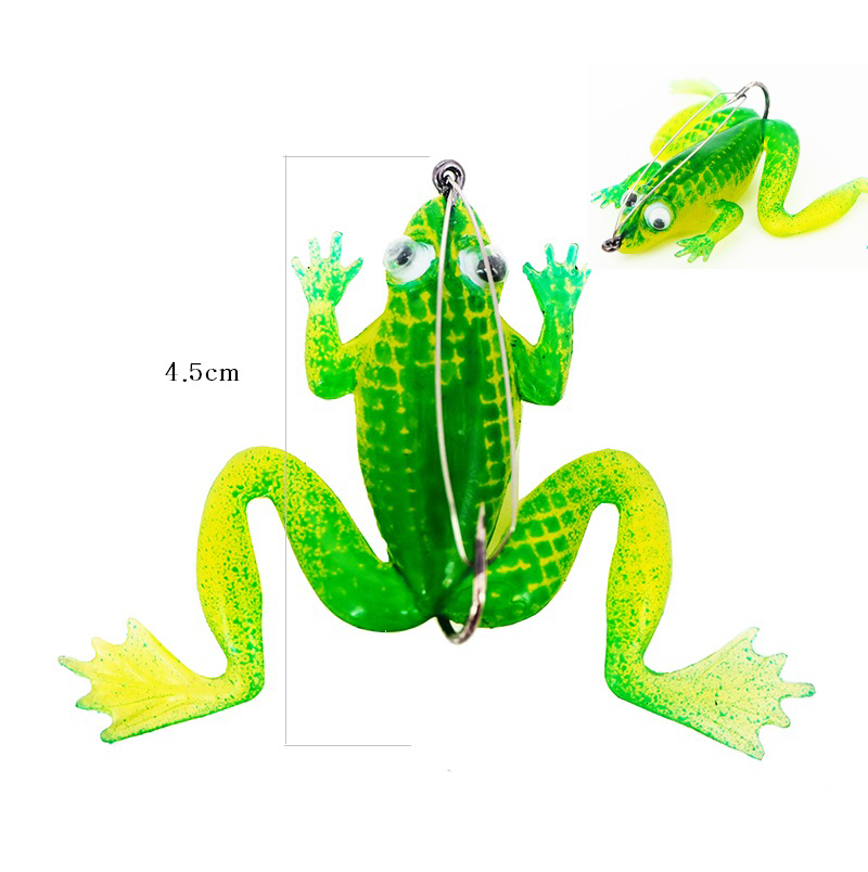 5pcs/pkt 4.5cm Spider king Soft Rubber Froggy with Spring Hook