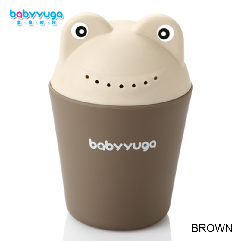 Babyyuga Cute Froggy Cartoon Baby Bath Caps Toddle Shampoo Cup Children Bathing Bailer Baby Shower Spoons