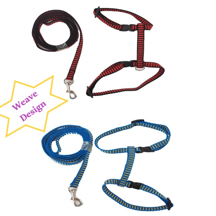 Adjustable Pet Cat Puppy Rabbit Durable Nylon Outdoor Collar Chest Strap Traction Harness Rope