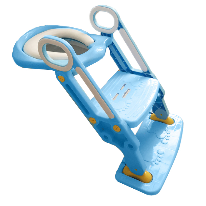 New Version Portable Fold Child Kid Baby Potty Toilet Ladder Seat Support