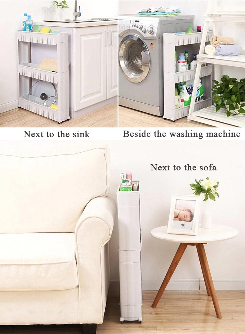 Multi Layer Space Saver Slim Storage Tier Shelf  Kitchen Home Organizer