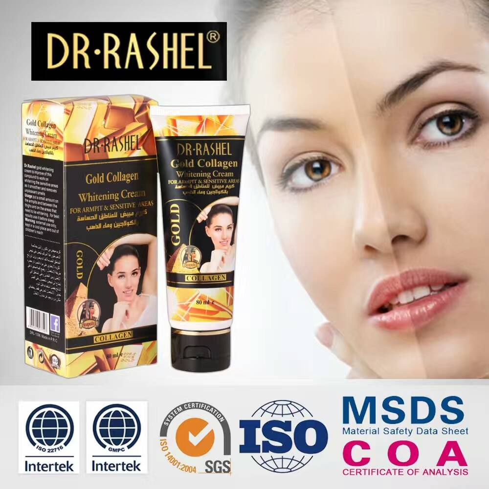 DR-RASHEL GOLD COLLAGEN WHITENING CREAM FOR ARMPIT & SENSITIVE AREAS 80ML
