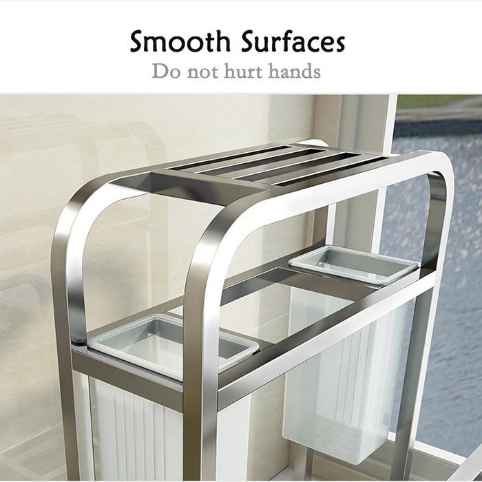 Stainless Steel Multi Purpose Kitchen Utensil Rack Cutting Board Peeler Knife Scissor Spoon Storage Organizer