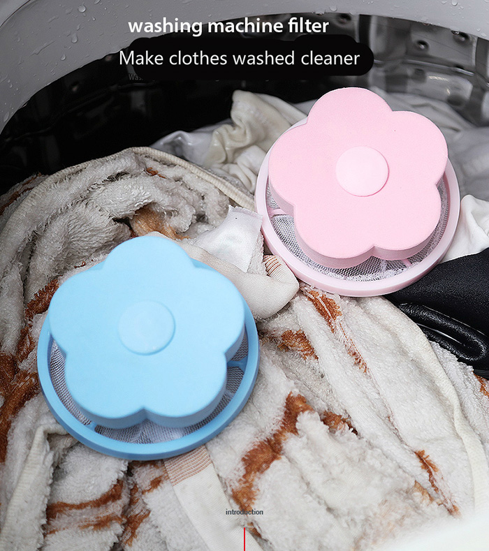 Washing Machine Lint Laundry Filter Bag Floating Lint Hair Remover Mesh Pouch