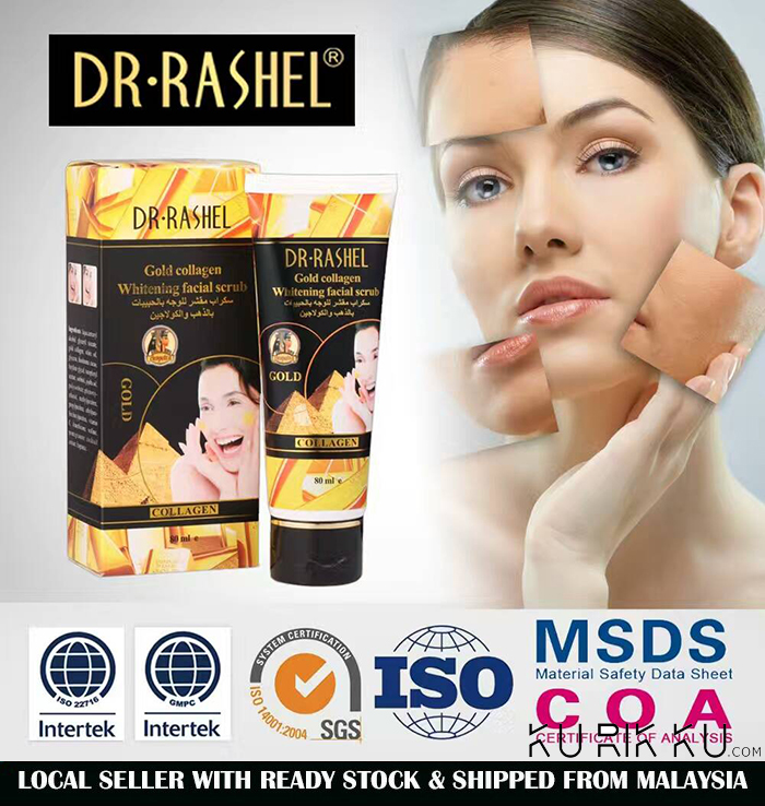 DR-RASHEL Gold Collagen Whitening Facial Scrub 80ml