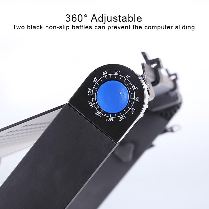 Aluminium Alloy 360° Adjustable Portable Folding Laptop Desk Computer Table Stand Tray