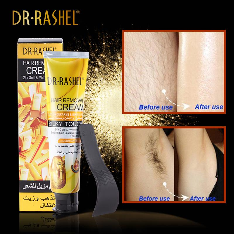 DR-RASHEL Hair Removal Cream-24K Gold & With Baby Oil 110ml