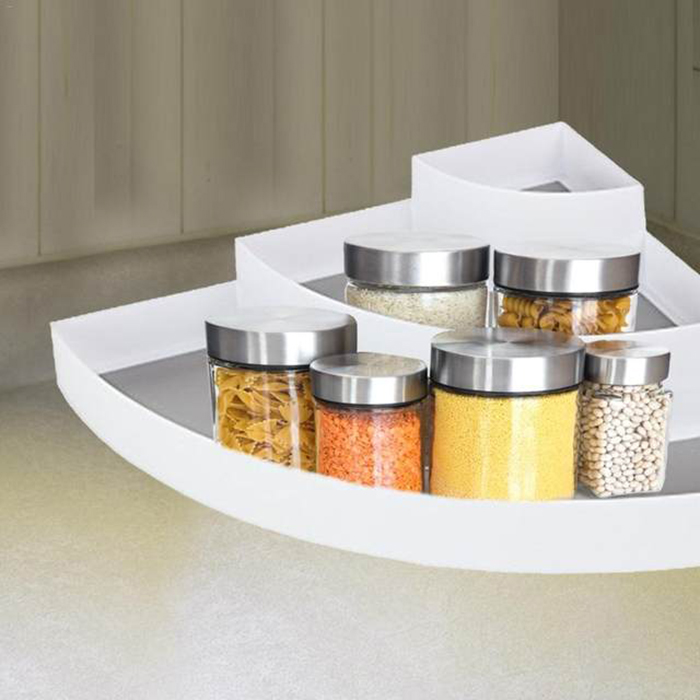 3 TiercKitchen Corner Frame Spice Storage Rack Condiment Seasoning Shelf Storage