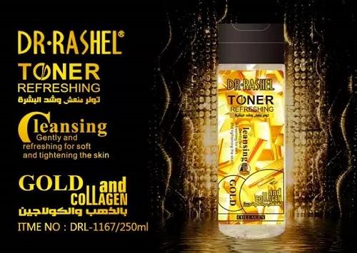 DR-RASHEL Toner Refreshing Gold Aand Collagen 250ml