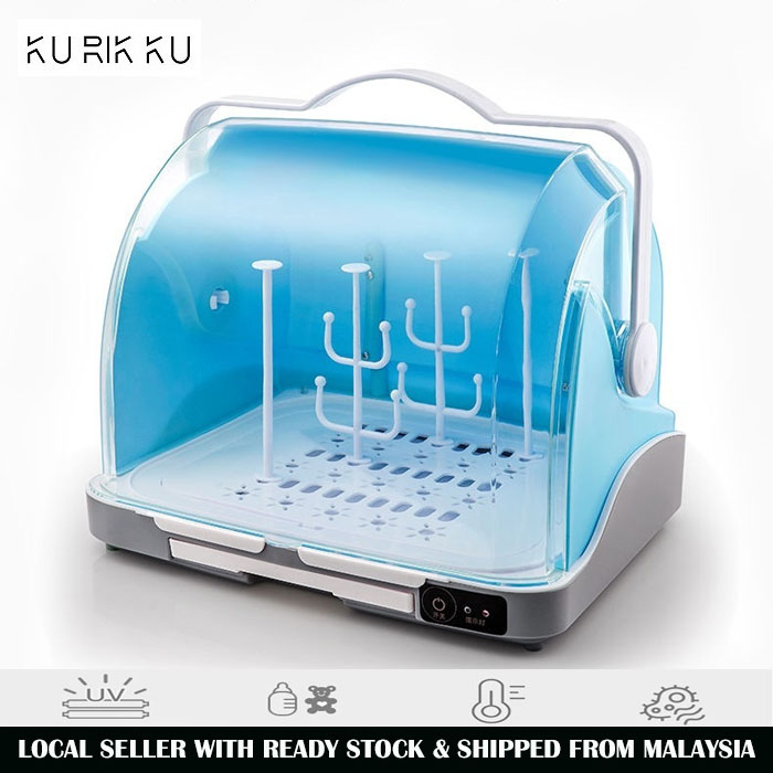 2 In 1 Baby Milk Bottle Led UV Light Sterilizer Dryer Storage Box With Handle