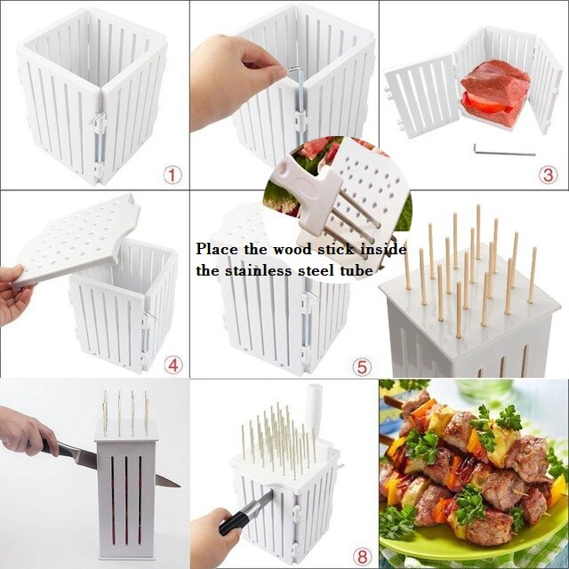 36 Holes BBQ Satay Kebab Meat Maker Barbecue Tool