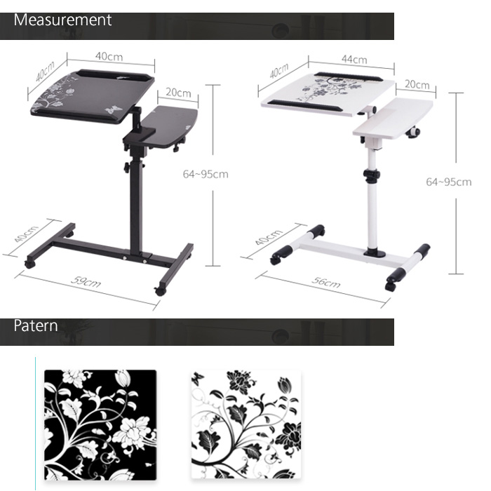 Adjustable Portable Rotate Computer Laptop Table Desk Bed Table