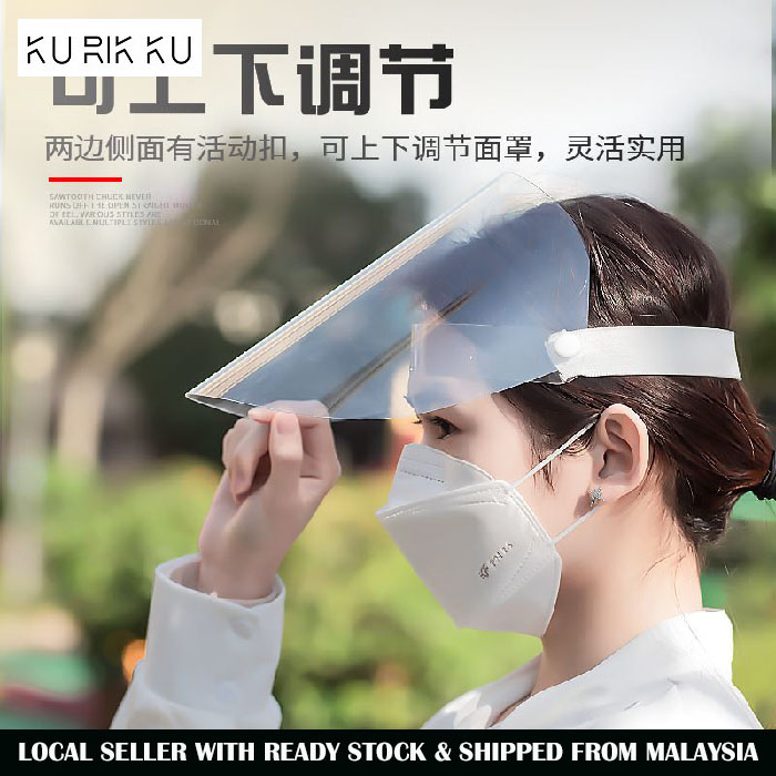 Transparent Face Sheild Protect Anti-Fog Isolation Mask With Clear Film Elastic Band