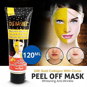DR-RASHEL 24K Gold Collagen With Cavier Peel Off Mask Whitening Anti-Wrinkle 120ML