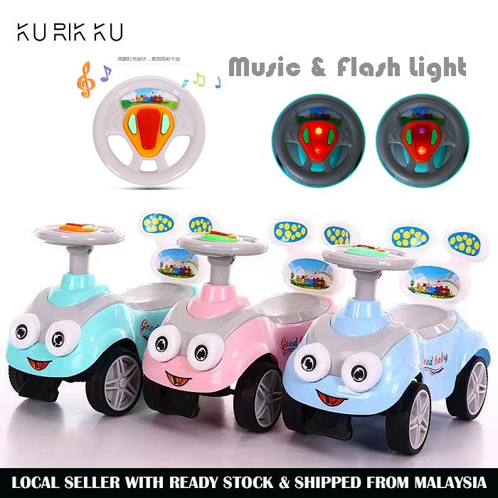 Cute Car Music Toddler Ride On Kid Baby Push Car Walker