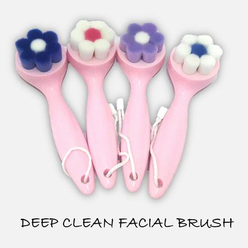 Rosemary Flower Soft Fiber Pore Face Deep Cleansing Brush