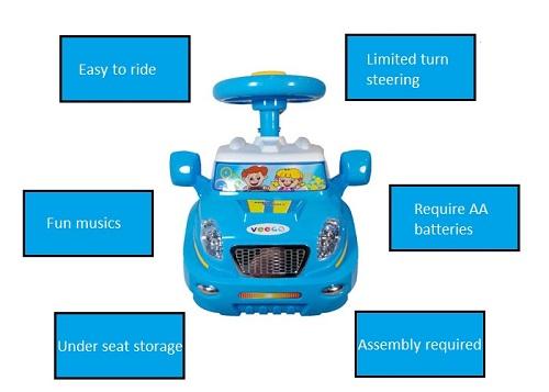 Z-376 Veego Magic Baby Kid Push Car (Blue)
