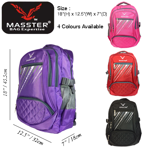 MASSTER 12465HS SCHOOLBAG LEISURE TRAVEL BACKPACK
