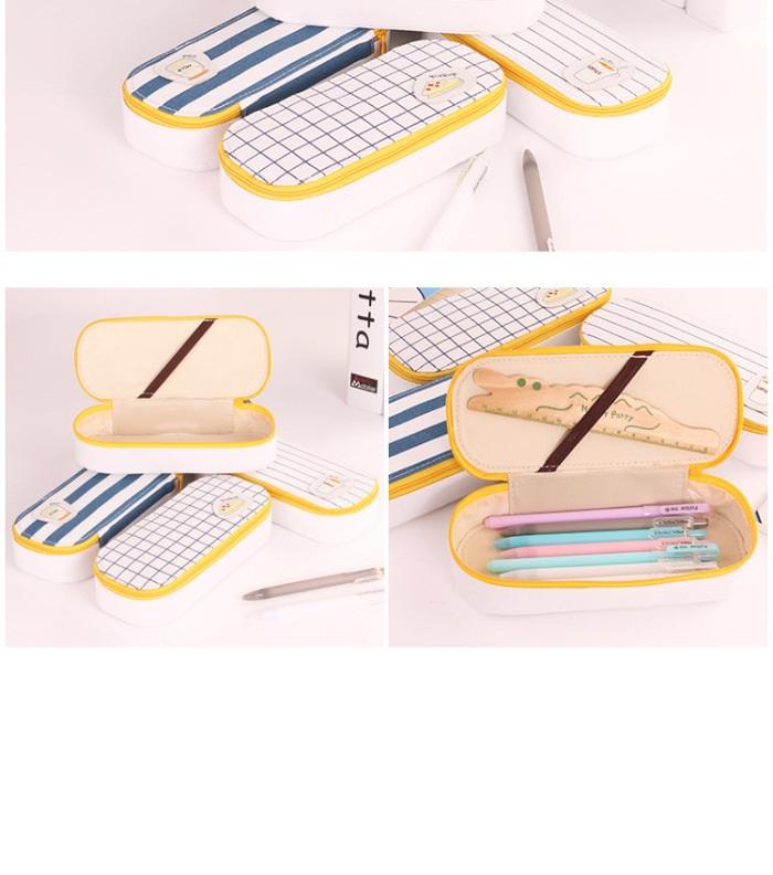Korea Design Large Capacity Morning Breakfast Pencil Case/ Storage Case
