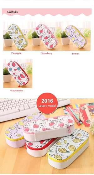 Korea Design Large Capacity Fruits Pencil Case/ Storage Case