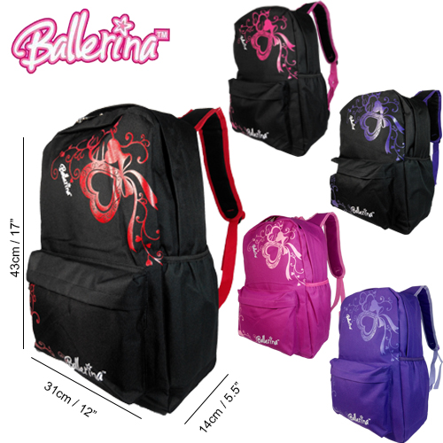 BALLERINA 12457HS SCHOOL BAG/ LEISURE/ TRAVEL BACKPACK